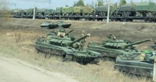 Russia paints 'invasion stripes' on assault vehicles as forces mass near Ukraine