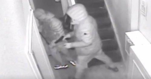 Gunmen caught on CCTV as they raid flats and attack McDonald's drive-thru