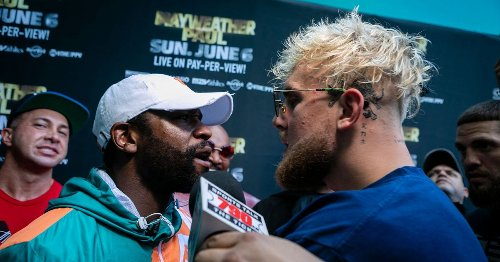 """Jake Paul describes """"hilarious"""" moment Floyd Mayweather tried to punch him"""