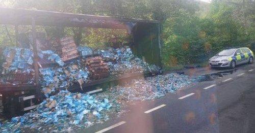 Raiders dump lorry after stealing £250,000 of blue WKD in daring morning raid