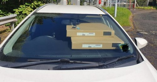 Driver stopped by police on motorway with Ikea wardrobe piled on dashboard