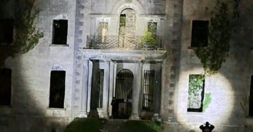 Ghost hunters take photo of old building and claim they've captured eerie figure