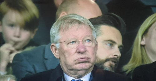 Alex Ferguson pictured fuming in stands after fifth Liverpool goal