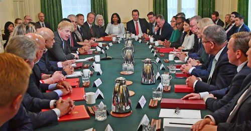 Boris Johnson opens new Cabinet with rambling joke about his number of children
