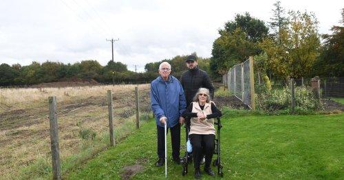Elderly couple's fight to stop housing developer tearing through 'their garden'