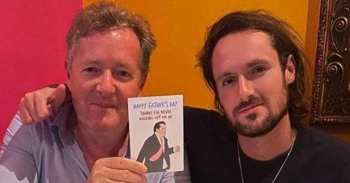 Piers Morgan's son pokes fun at his ITV walk-out with funny Father's Day card