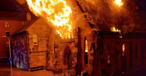 One person rescued as huge fire destroys 160-year-old church in city centre