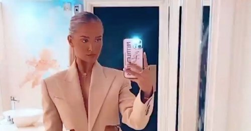 Love Island's Molly-Mae stuns in quirky beige suit with cutout waist and legs