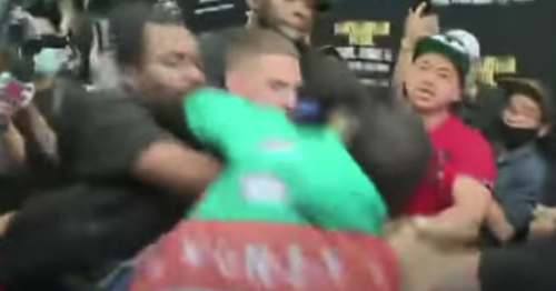 New footage shows ​moment Floyd Mayweather lunged for Jake Paul to start braw