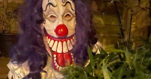 Man in creepy clown costume seen walking streets in dark days before Halloween