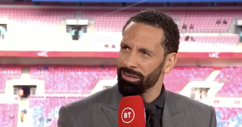 Rio Ferdinand responds as BT Sport reminds him he never won FA Cup with Man Utd