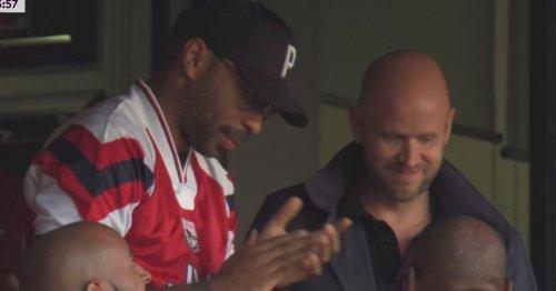 Thierry Henry enjoys north London derby with Arsenal takeover hopeful Daniel Ek