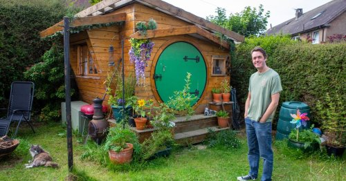 Dad fulfils childhood dream by turning shed into Lord of the Rings Hobbit hole