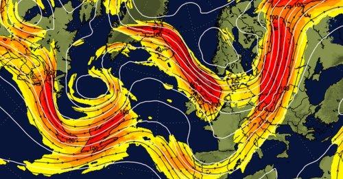 Alarming weather chart shows Atlantic jet stream hurtling towards Britain