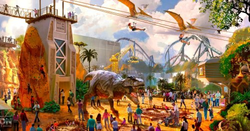 'UK Disneyland' shares first images of its epic new dinosaur rollercoaster