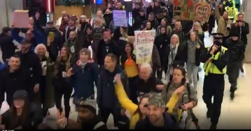 Hundreds of anti-lockdown protestors march in Manchester days before rules ease