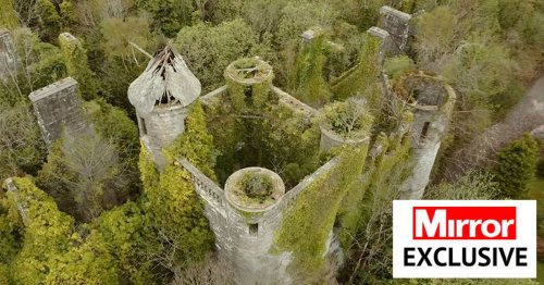 Inside ruined 19th century Scottish castle where Hitler's deputy was held in WW2