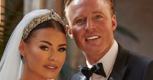 Jess Wright unveils glam wedding dress that made guests 'gasp' when they saw it