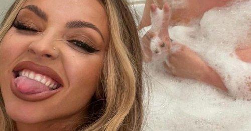 Jesy Nelson slips into bath with pal as wild 30th birthday celebrations continue