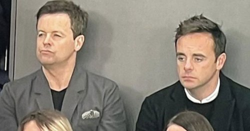 Ant and Dec spotted sitting the wrong way around as Newcastle party goes flat