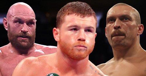 Boxing power rankings including Canelo Alvarez, Tyson Fury and Oleksandr Usyk