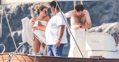 Princess Eugenie's husband Jack frolics on boat with glamorous female pals