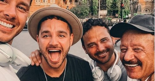 Adam Thomas sobbed as he had to break the news of his dad's death to friend