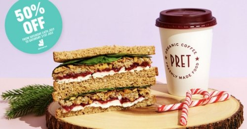 You can get 50% off Pret's iconic Christmas sandwich for this week only