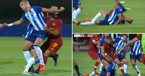 Pepe sparks pre-season brawl against Jose Mourinho's Roma