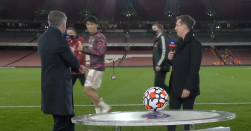 Jamie Carragher left with egg on his face after Arsenal interview snub