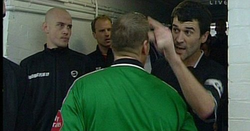 """Roy Keane snaps back at """"Arsenal bully"""" Vieira as pair relive tunnel bust-up"""