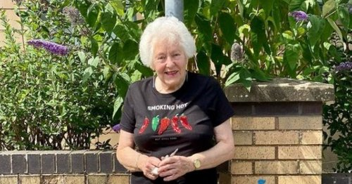 Gran stopped in street after 'smoking hot' T-shirt draws attention of shoppers