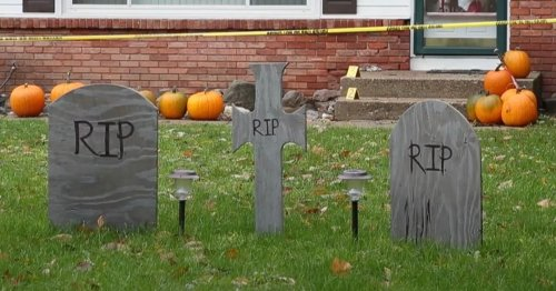 Halloween display at home where boy killed his family slammed as 'disgusting'