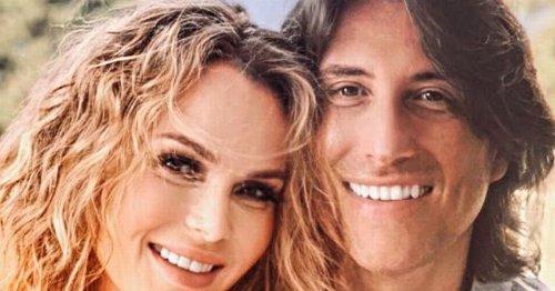 Amanda Holden gives rare look at natural curly hair in snap with husband