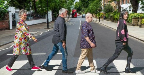 Bake Off stars mimic the Beatles as they pose on crossing ahead of new series