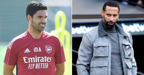 Arteta heeding Ferdinand's advice after latest decision on Arsenal's future
