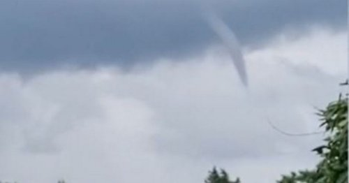 Incredible rare 'tornado-like funnel cloud' filming forming over UK skies