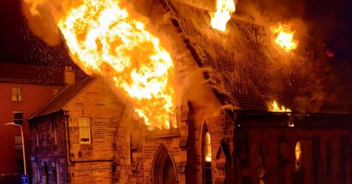 Enormous fire 'completely destroys' 150-year-old church in city centre