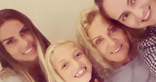 Katie Price's daughter Princess celebrates nan's birthday with caterpillar cake