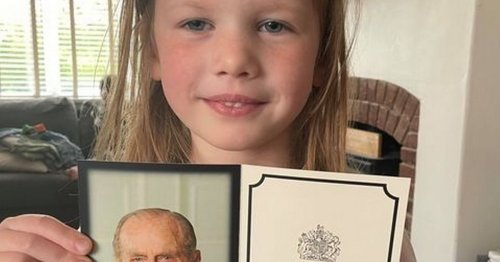 Queen replies to girl, 5, who sent picture to cheer her up after Philip's death