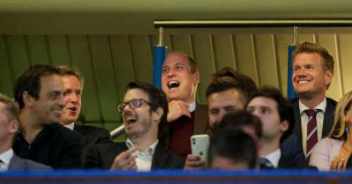 Off-duty Prince William enjoys Aston Villa match as Philip documentary plays
