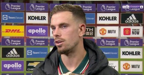 Henderson lifts lid on Liverpool's half-time chat with 4-0 lead over Man Utd