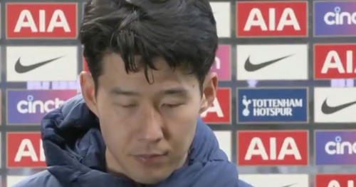 Heung-Min Son appears close to tears in emotional interview after Man Utd loss