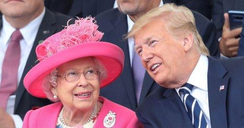 Trump's embarrassing blunders when he met the Queen and error in official photo