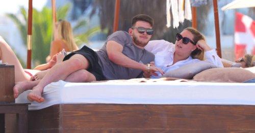 England Euro 2020 hero Rice soaks up sun with girlfriend Lauren Fryer