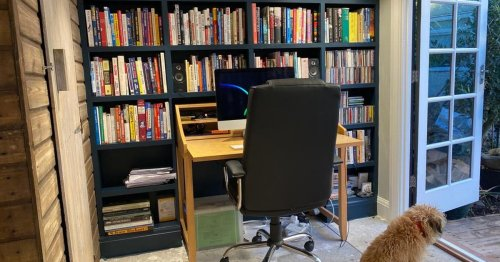 Dad with little DIY experience builds £6,000 home office so he can work in peace