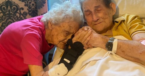 Tears as sweethearts are reunited in nursing home - after 100 days apart