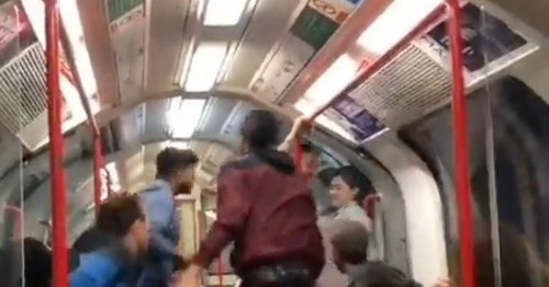 Tube passengers rush to woman's defence as man threatens to 'knock her out'