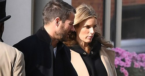 Jamie Redknapp and Frida pictured leaving a hotel together after their wedding