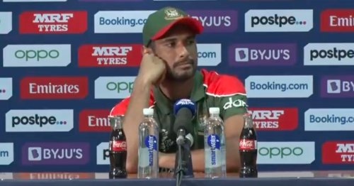 Scotland interrupt Bangladesh press conference with national anthem after win